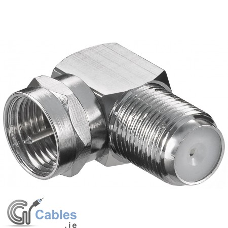 F-Plug Right Angle Connector Female to Male