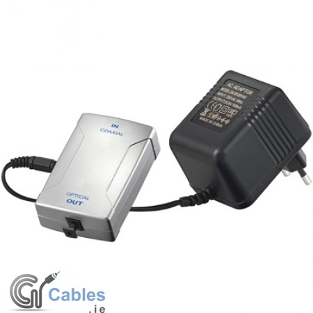 Coaxial (RCA) Digital Audio to Toslink  Converter