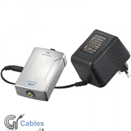 Toslink to Coaxial (RCA) Digital Audio Converter