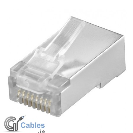 Modular  RJ45  8P8C  plug  for  round  cables