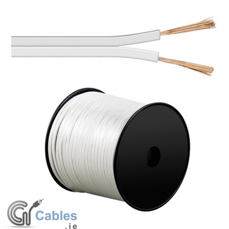 White 100m Speaker Cable 2 x 0.75 mm² CCA