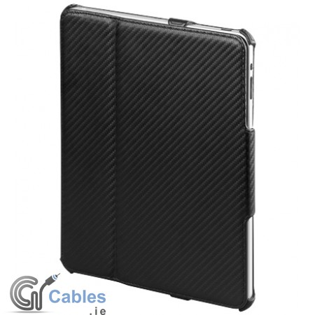 Carbon Style case for iPad with desk stand function