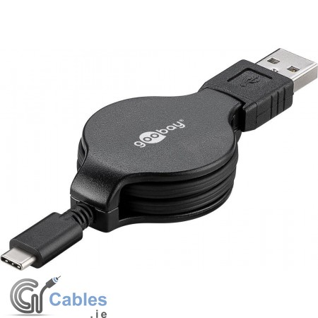 Retractable USB-C Charging and Sync Cable