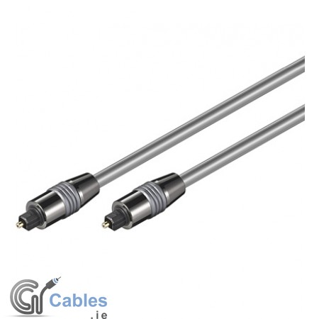 Toslink Optical Digital Cable ø 6 mm - Metal Plugs