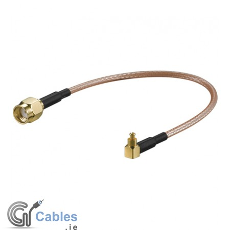 WLAN router RP-SMA jack to MC-Card 90° plug cable