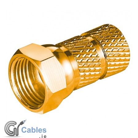 Wide Twist-On F-Plug ø 6.5 mm - 20 mm (Gold plated)