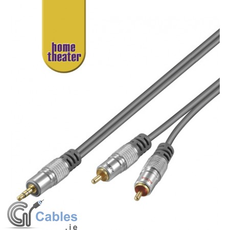 Home Theatre 3.5mm jack to 2 x RCA cable