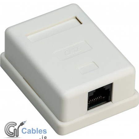 Surface Mounted 1-Port CAT 6 Network Wall Outlet