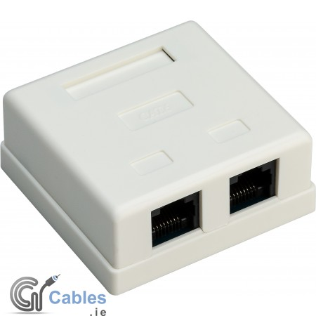 Surface Mounted 2-Port CAT 6 Network Wall Outlet