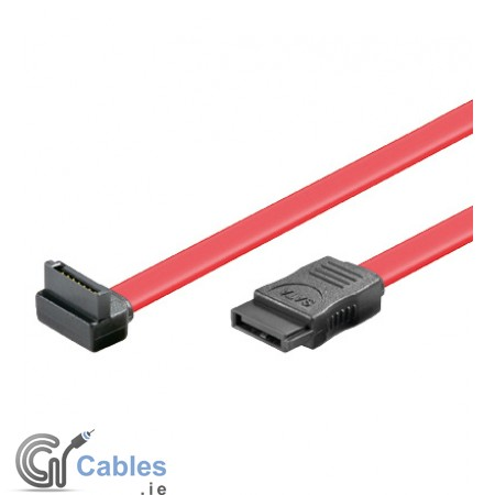 HDD SATA Cable - 1 x 90° right angled L(down)-Plug