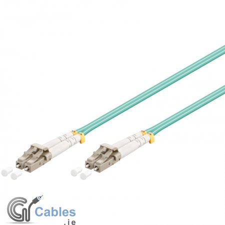 LC - LC Multimode Duplex Fiber Patch Cable (OM3 - Aqua)