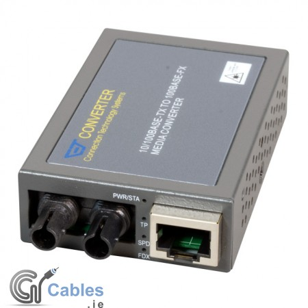 Fast Ethernet Compact Media Converter 10/100TX to ST 100FX - MCT-100BTFT