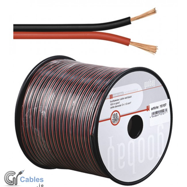 Professional Audio Cables : Buy online speaker cable mm² black red in ireland