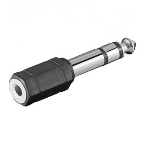 6.35mm Stereo Plug to 3.5mm Stereo socket Adapter