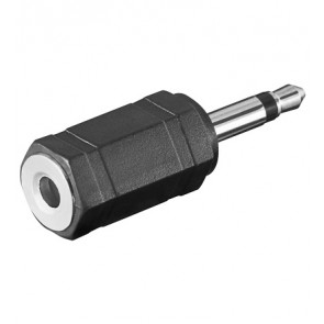 3.5mm Mono Plug to 3.5mm Stereo socket Adapter