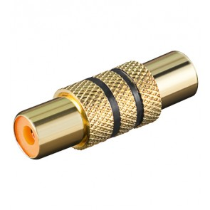 RCA Coupler Female to Female (Gold plated) - Black