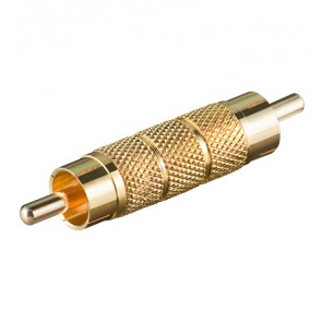 RCA Coupler Male to Male (Gold plated)