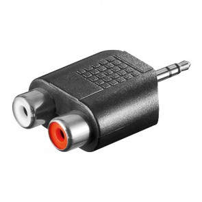 3.5mm Stereo Plug to 2 x RCA socket Adapter