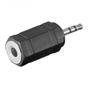 2.5mm Stereo Plug to 3.5mm Stereo socket Adapter