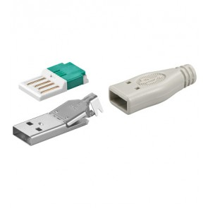 USB A Plug Male Assembly (Crimp)