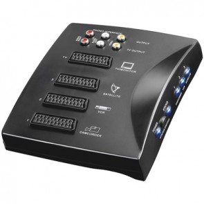 Automatic 3 x Scart Switch Box + RCA Output