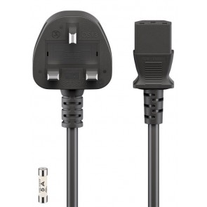 Power Cord UK to ICE Plug (Kettle Lead)