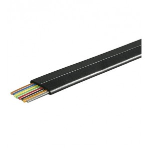 8 Core Telephone Cable Flat - 100m Black