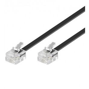 RJ11 to RJ11 Telephone cable - 4 core black