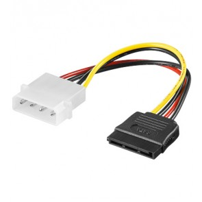 4 pin 5.25 to SATA power adapter cable