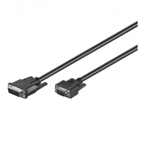 DVI-I (12+5) plug to SVGA 15 pin High Density plug