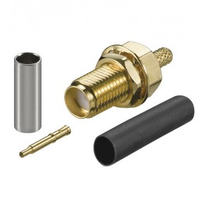 RP-SMA crimp jack for RG-174 and RG-316