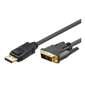 DisplayPort to DVI 24+1 Cable - Gold plated
