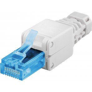 CAT 6a Tool-Free RJ45 Plug with Strain-Relief Boot