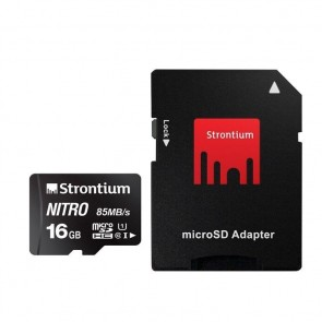 Strontium NITRO Micro SD 16 GB with Card Reader