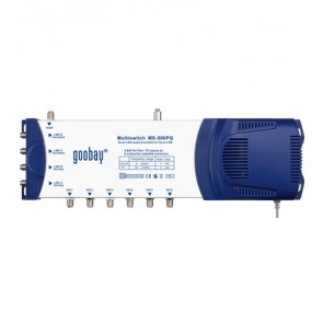 Multiswitch with 5 IN / 6 OUT QUAD-LNB compatible
