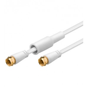 Flat F-Plug to F-Plug cable (Gold plated)