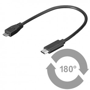 USB 2.0 Miro-B connector to USB 3.1 SuperSpeed+ Cable Type C