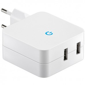 Mains USB Charger (2 pin) 230V -> USB (4.2A)