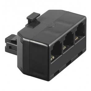 RJ11 Plug  to 3 x  RJ11 Female Adapter