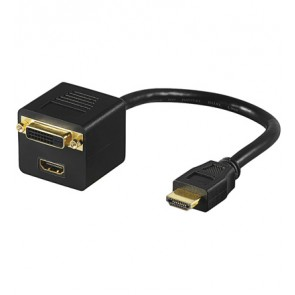 HDMI to HDMI + DVI-D Adapter