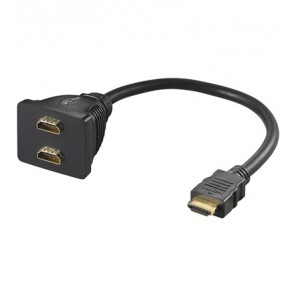 HDMI (M) to 2 x HDMI (F) cable adapter