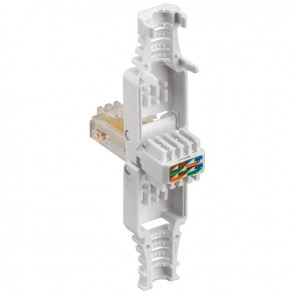 CAT 5e Tooless RJ45 Plug with Strain-Relief Boot