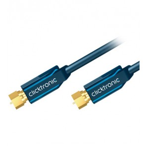 Satellite F-plug lead  (F-plug/F-plug) with a shielding rating of > 95 dB.