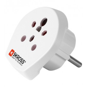 Travel Adapter India/Israel/Denmark to Schuko