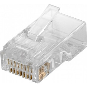 RJ45 Plug -  CAT 5e UTP unshielded for round cable
