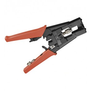 Coax Compression Crimp Pliers for F/IEC/BNC/RCA Connector