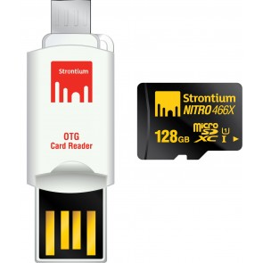 NITRO Micro SD with USB OTG Cardreader 128GB