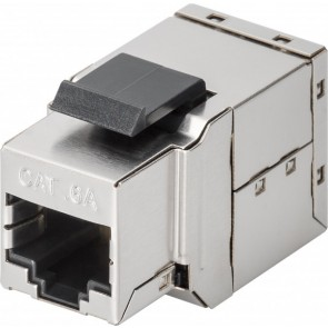 CAT 6a KeyStone 2 x RJ45 modular coupler (STP shielded)