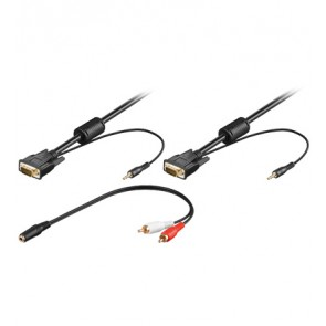 Monitor cable (M/M) with 3.5mm Stereo Audio cable