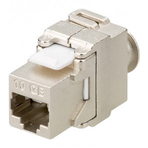 CAT 6a (500MHz) Keystone Jack - RJ45/Toolless/STP/Snap-in/Shielded